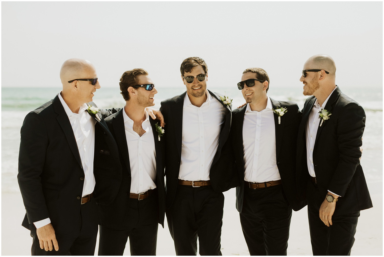 Groomsmen Bud and Alley's Seaside Wedding