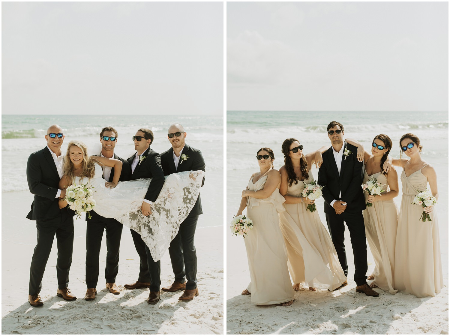 Bridal Party Bud and Alley's Seaside Wedding