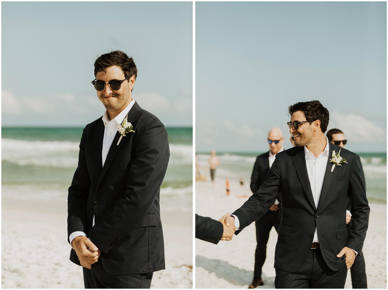 Groom Bud and Alley's Seaside Wedding