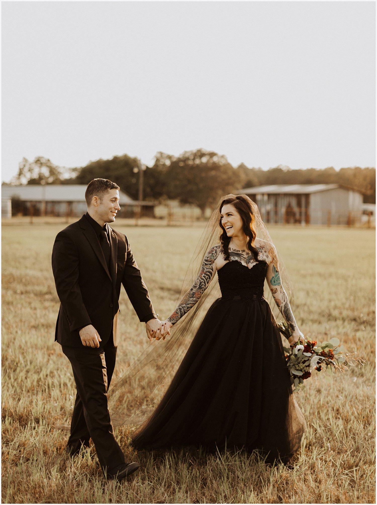 Camp Retreat Halloween Wedding Couple