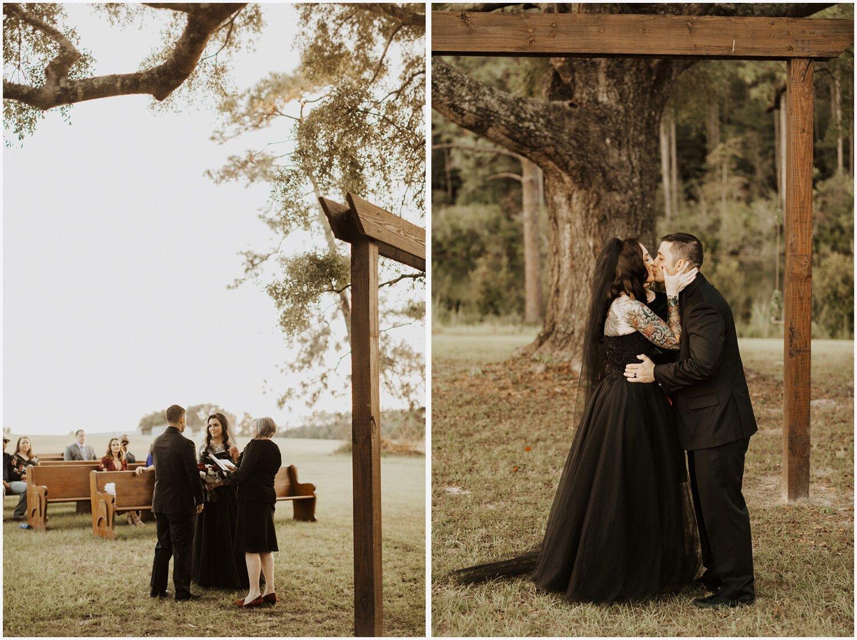 Camp Retreat Halloween Wedding Ceremony