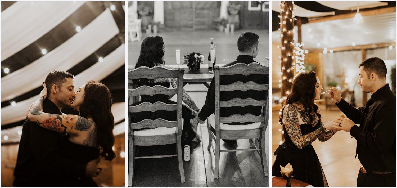 Camp Retreat Halloween Wedding Reception
