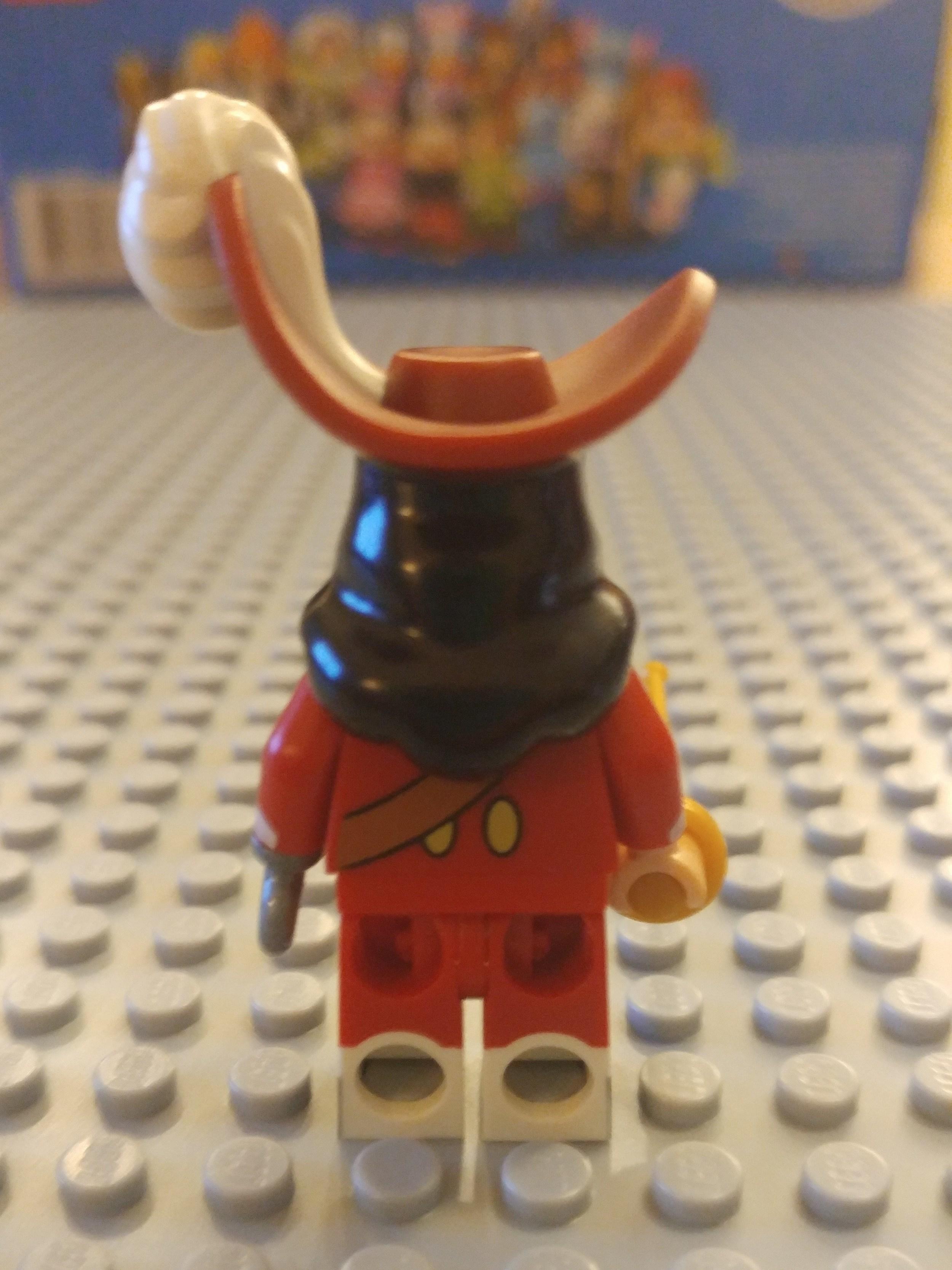Captain Hook Minifig Close Up - Back
