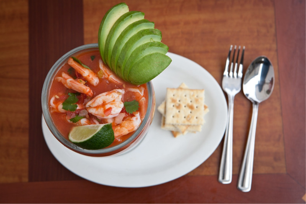 Our shrimp cocktail makes a great appetizer for two