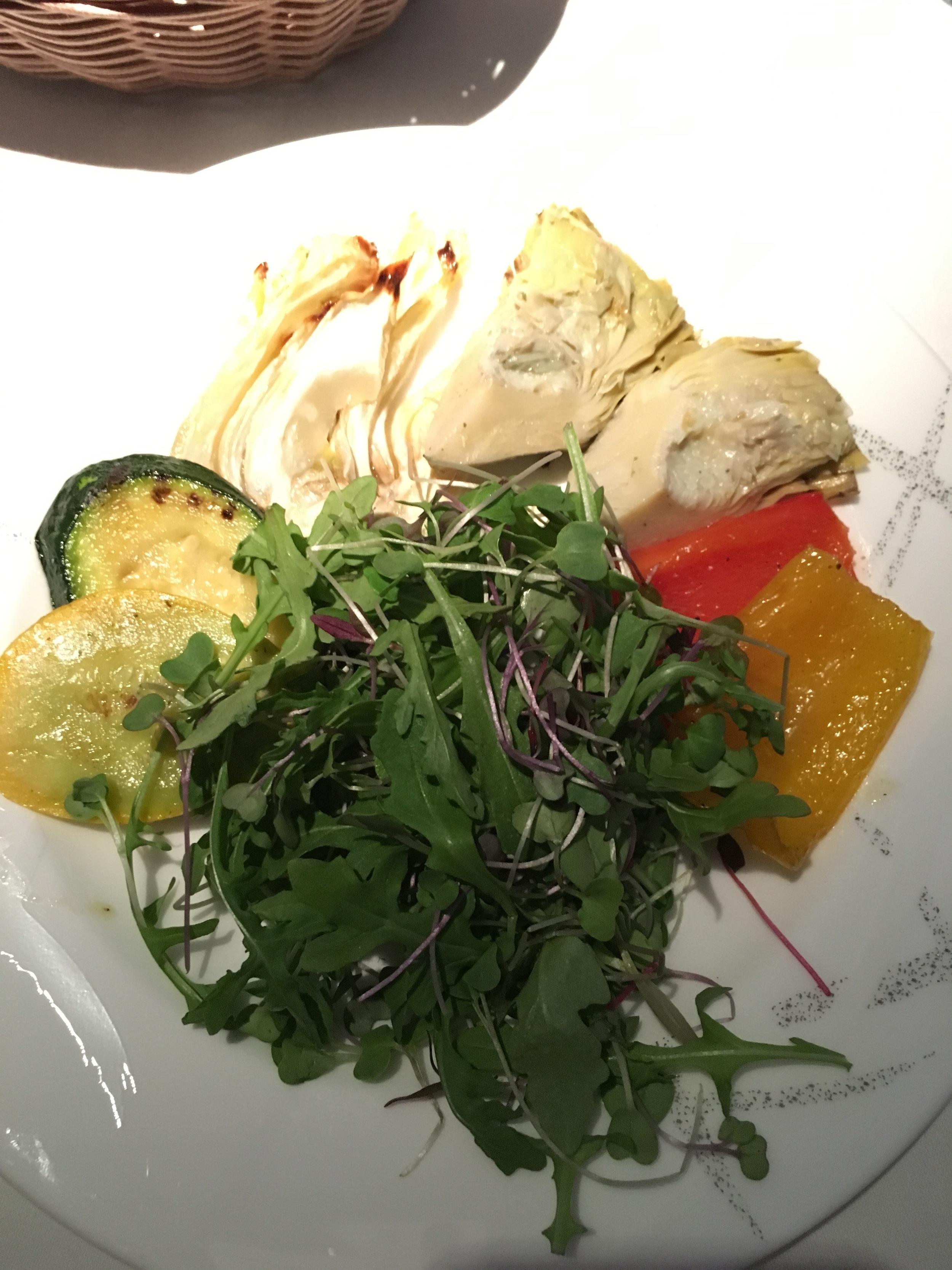 Cathay Pacific First Class VGML vegan appetizer