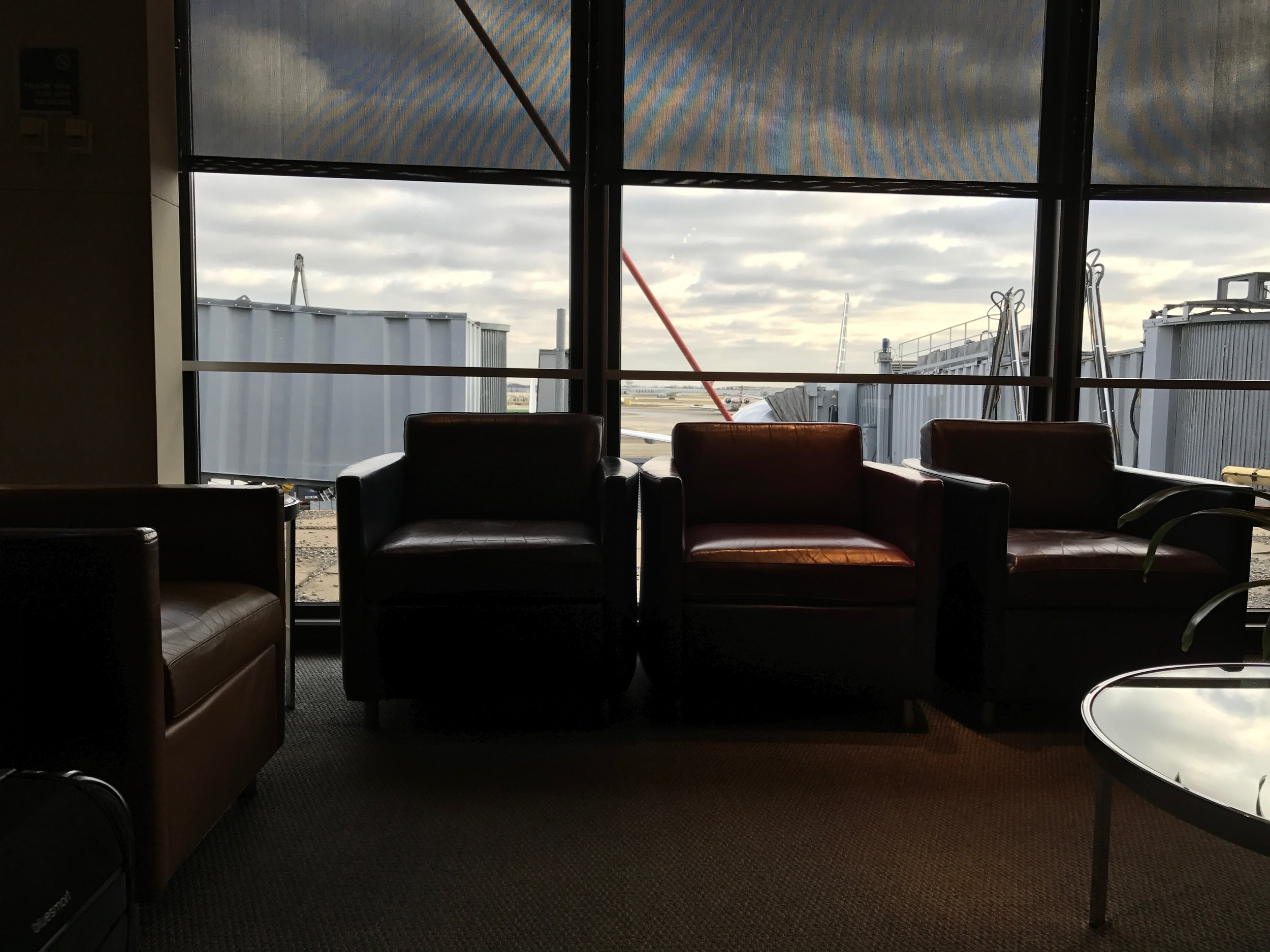 ORD Flagship Lounge seating and view