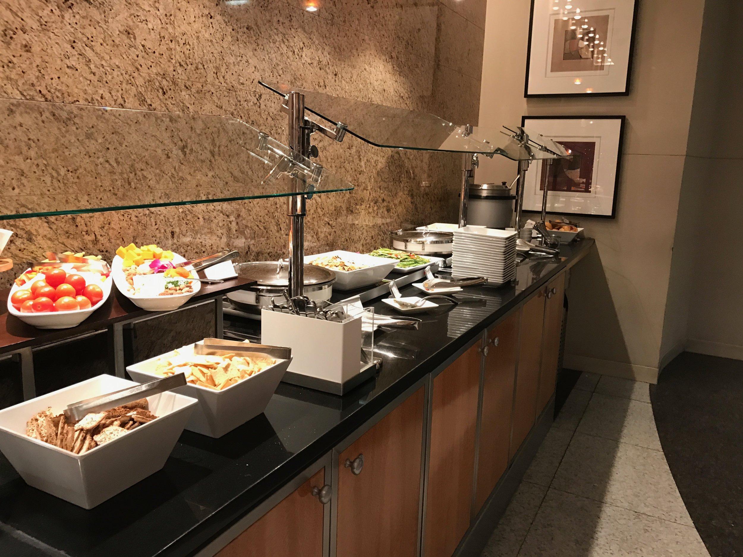 Flagship Lounge food buffet