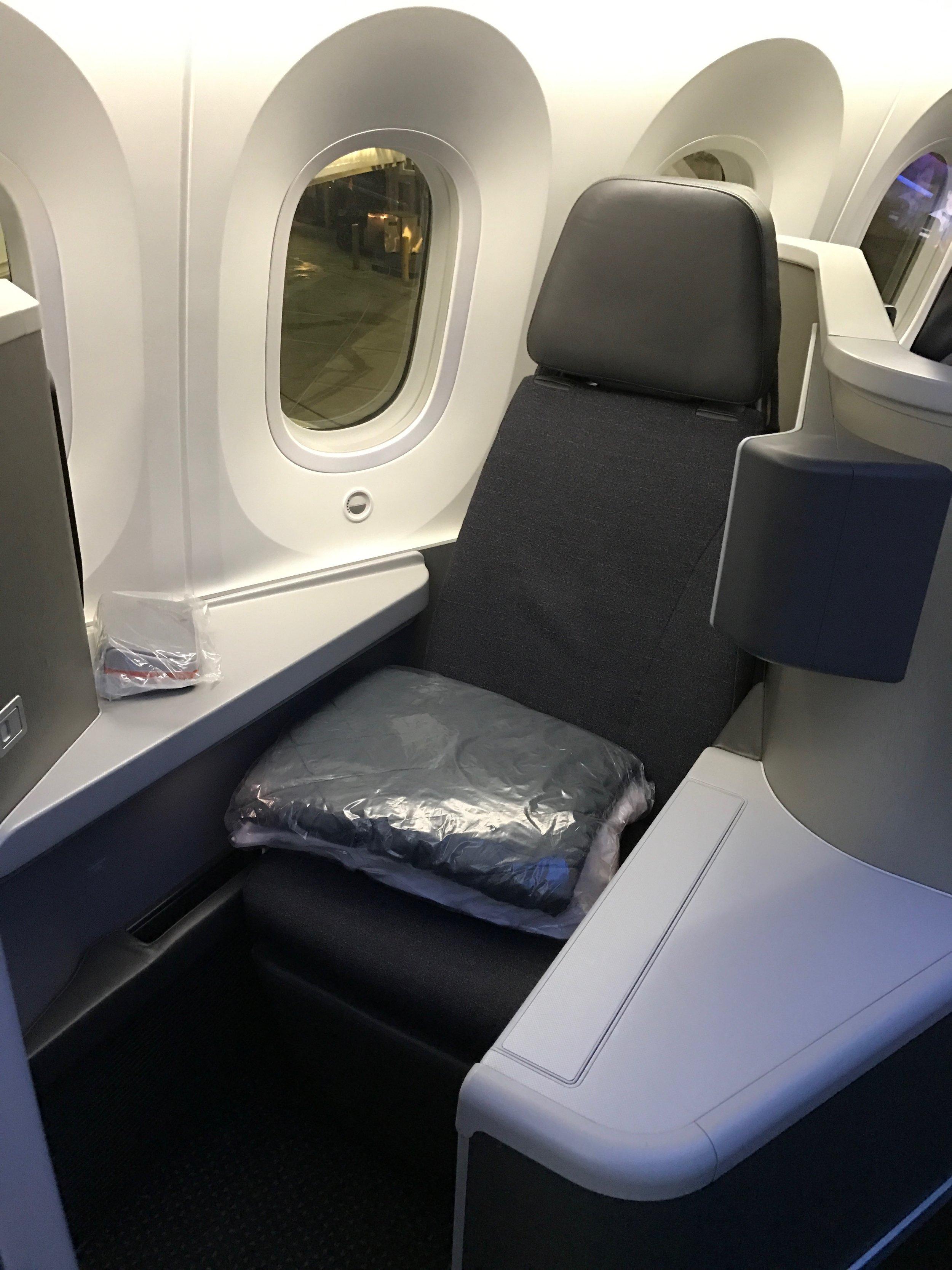 AA 787 Business Class Seat 2A