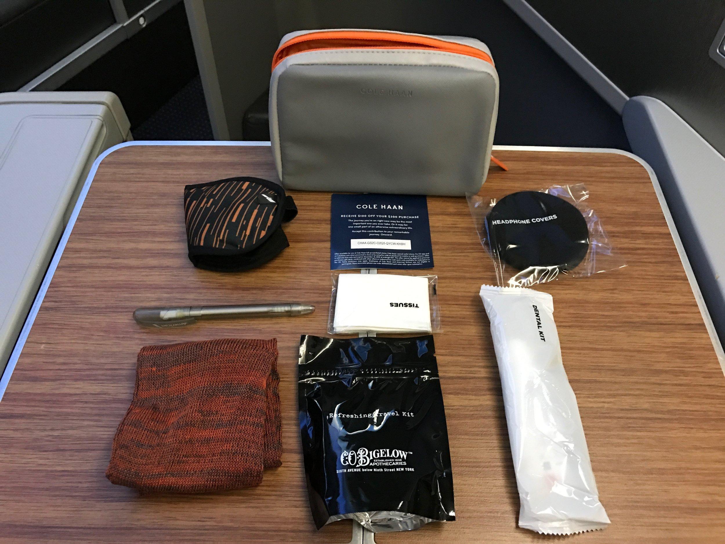 AA business class amenity kit
