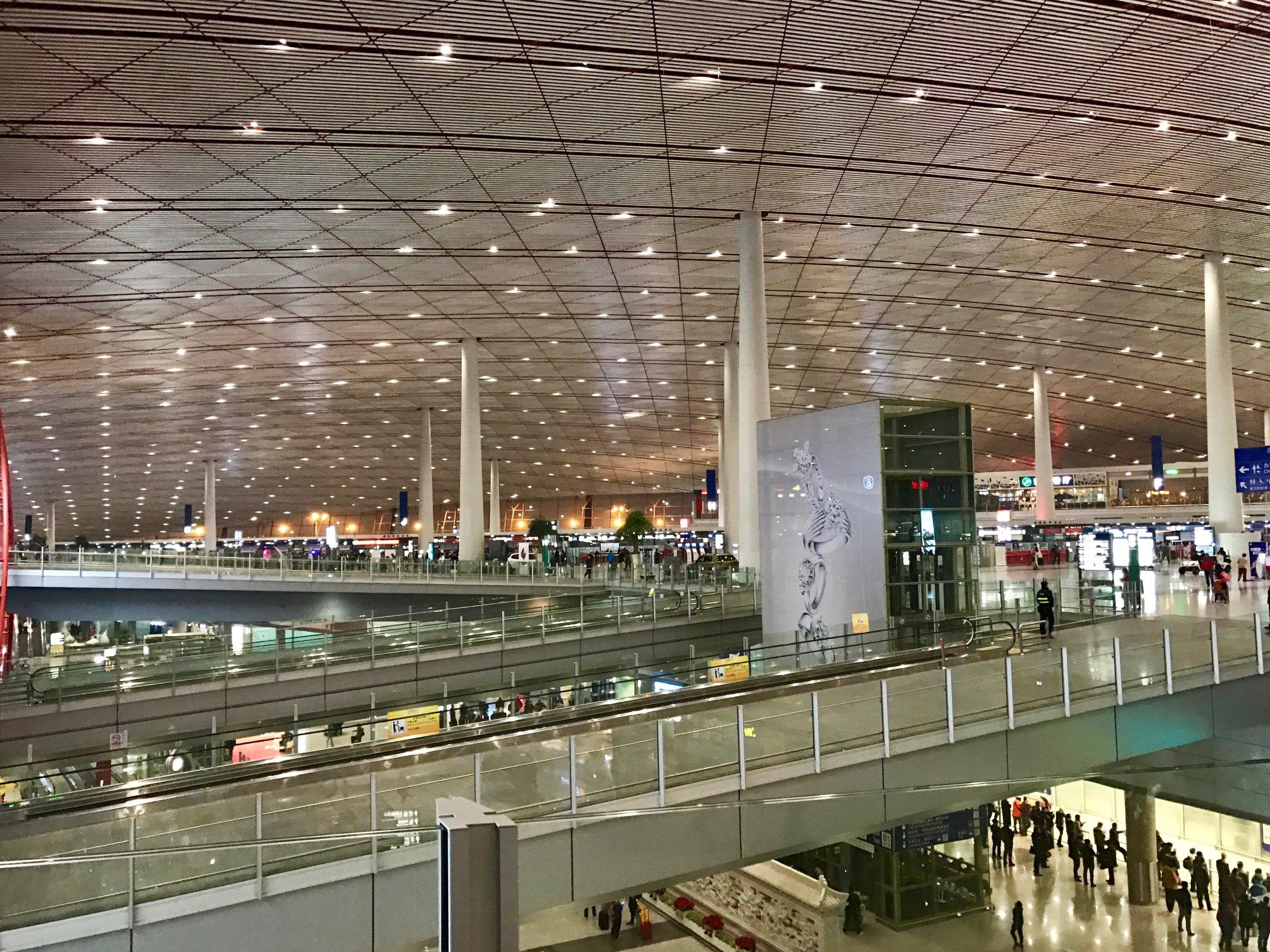 Beijing Airport (PEK) T3 entrance