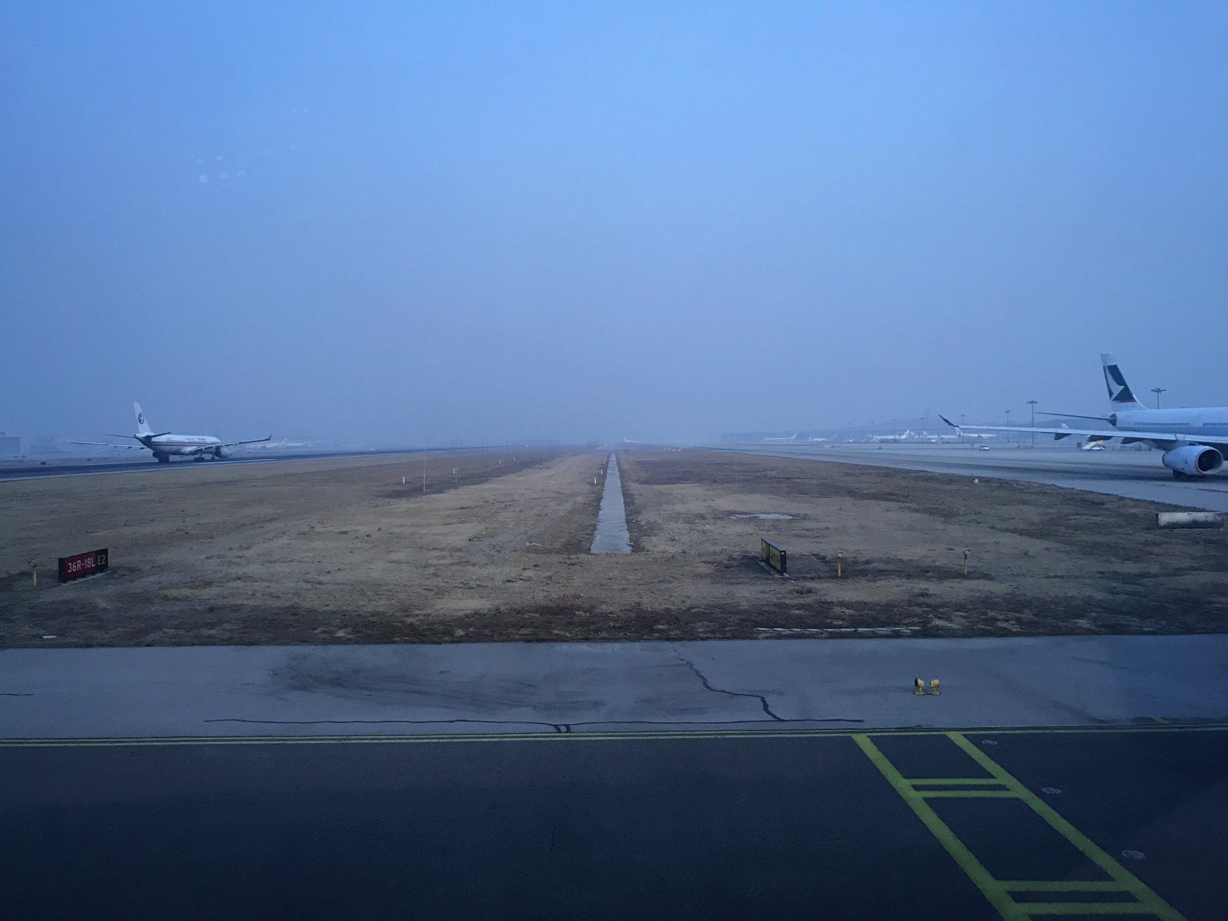 Beijing Airport (PEK) tarmac traffic during taxiing