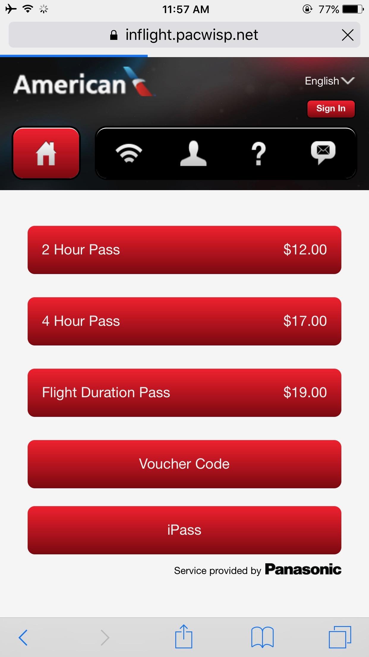Satellite wifi options onboard