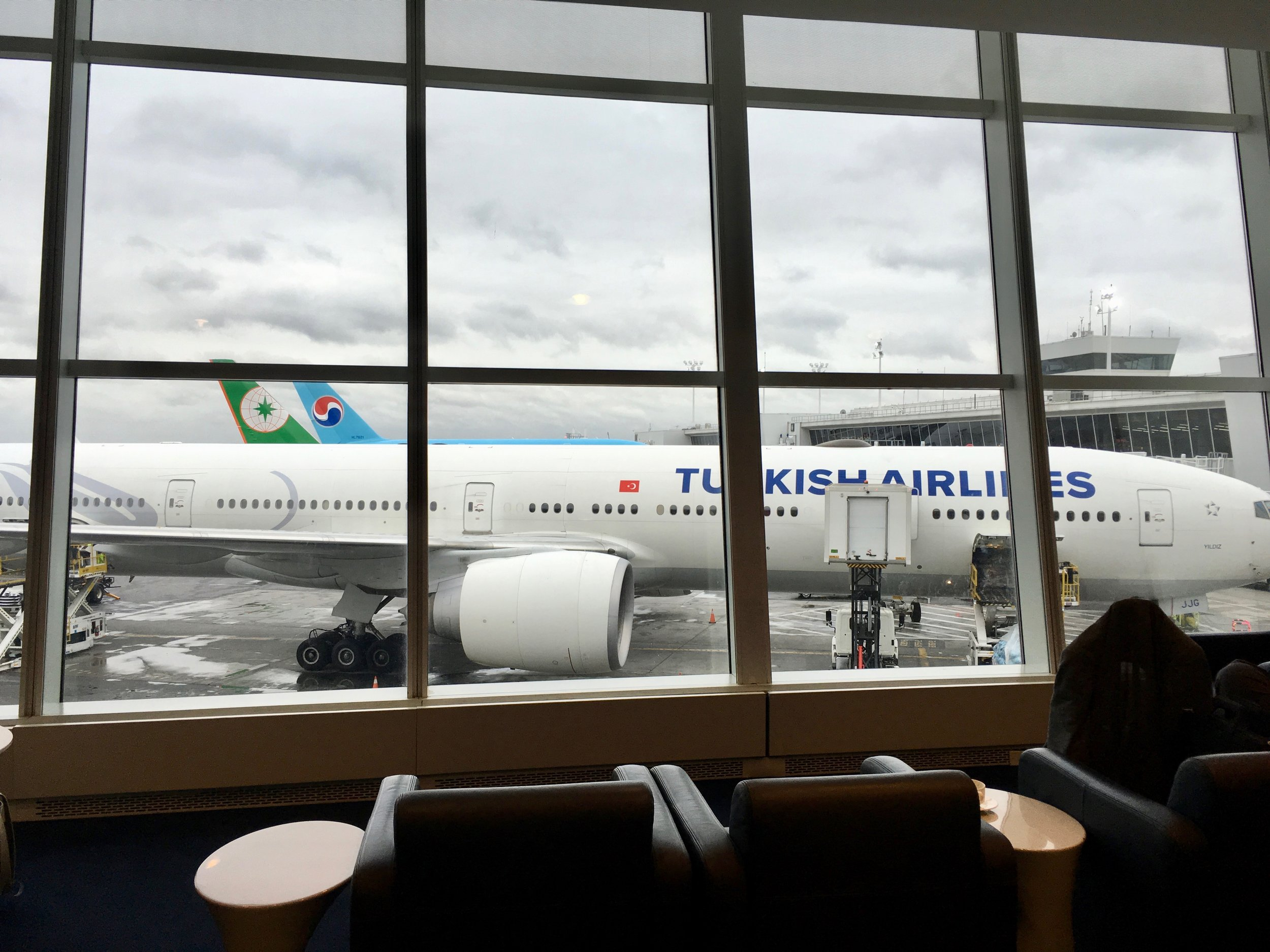 Our aircraft at the gate