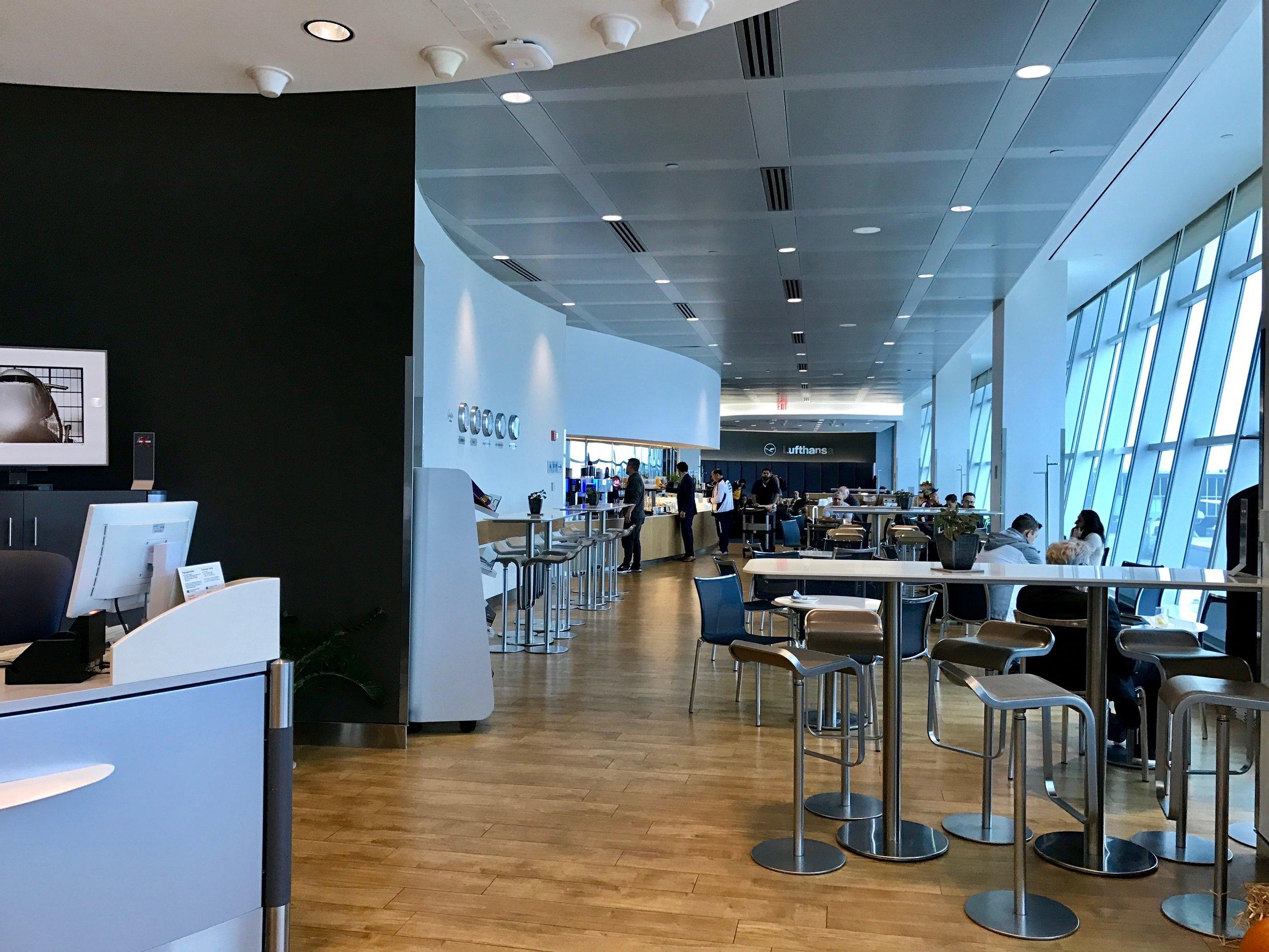 Lufthansa Business Class Lounge at JFK terminal 1