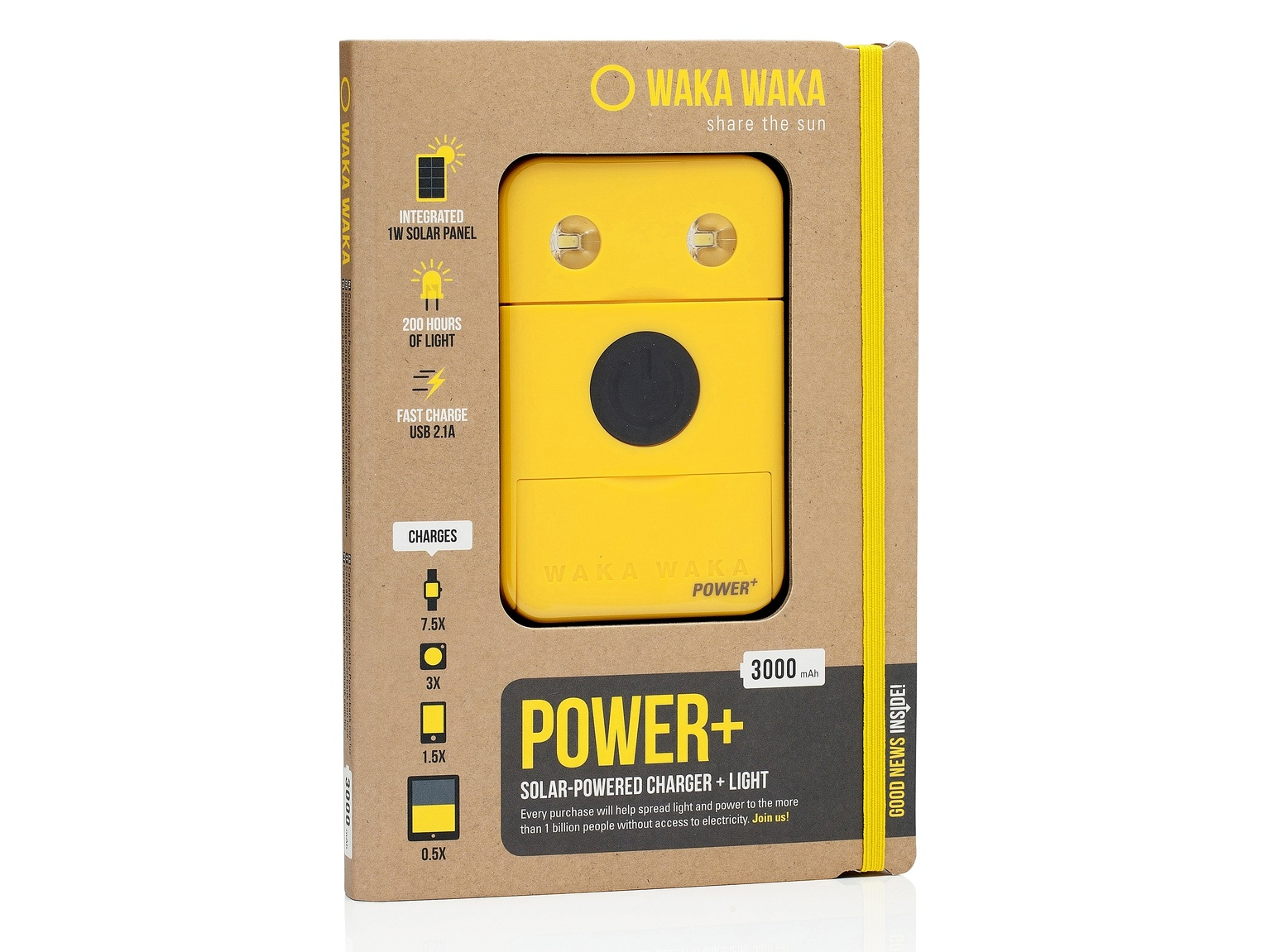 Waka Waka Power+ - Solar-powered battery pack that brings light to those in need