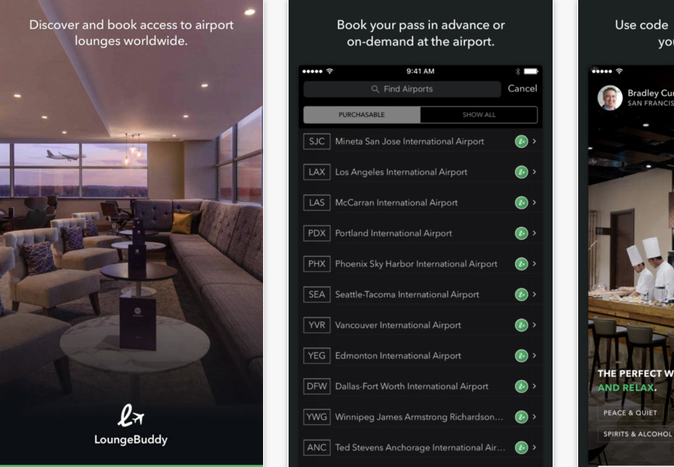 Lounge Buddy screenshot from App Store