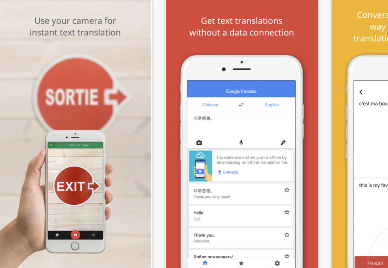 Google Translate screenshot from App Store