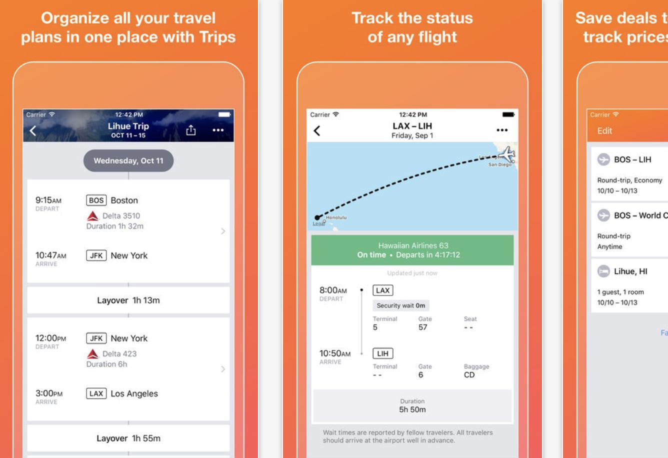 Kayak screenshot from App Store