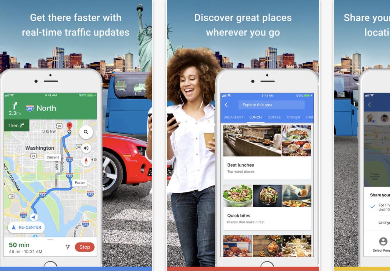 Google Maps screenshot from App Store
