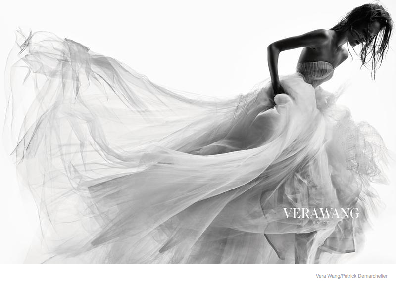 The image traditionally associated with Vera Wang, that of a couture fashion designer.