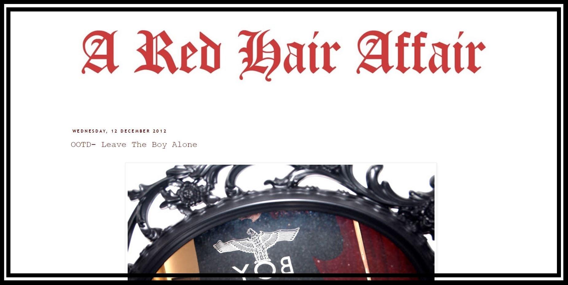 A Red Hair Affair - a trip down memory lane