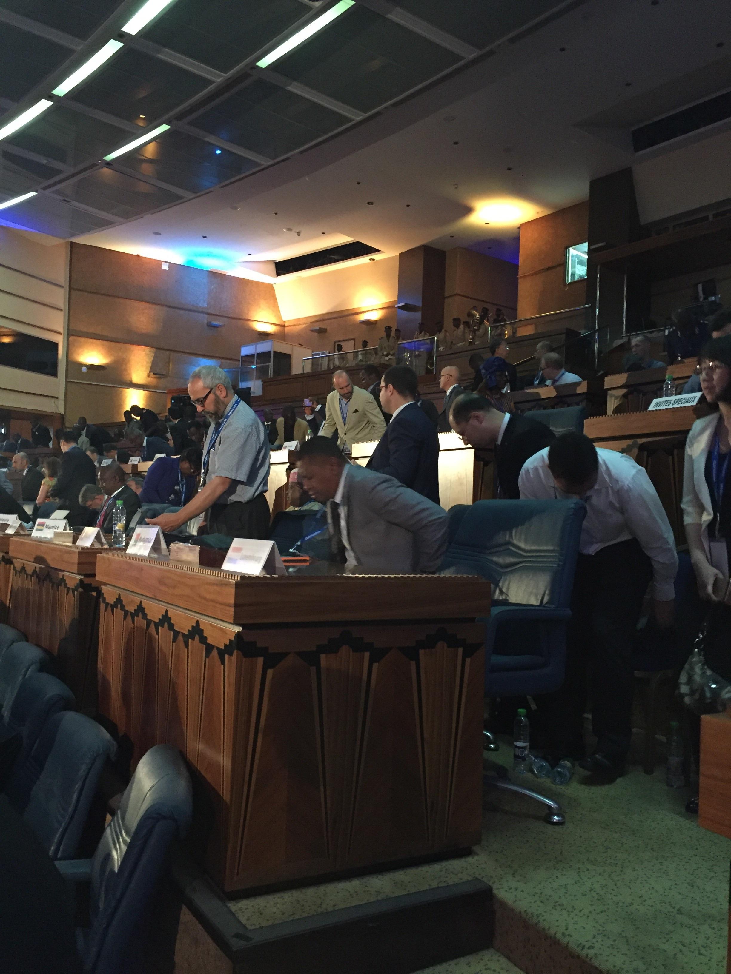 Plenary session getting underway...