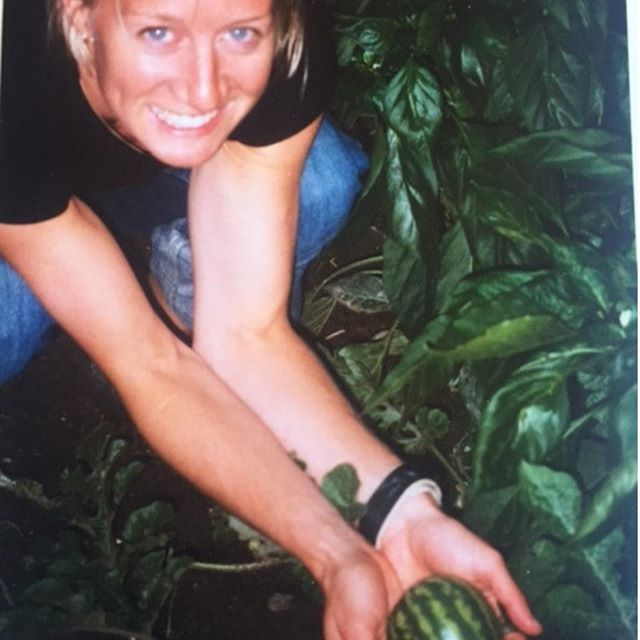 "#tbt 18 years ago when Jill grew her first watermelon patch...⠀⠀⠀⠀⠀⠀⠀⠀⠀ ⠀⠀⠀⠀⠀⠀⠀⠀⠀ ""What happened for me that first summer with my new garden was nothing short of transformational in my relationship with food and my body. Just 3 short years before, I was 87 pounds and facing a life-threatening eating disorder.⠀⠀⠀⠀⠀⠀⠀⠀⠀ ⠀⠀⠀⠀⠀⠀⠀⠀⠀ And while I was moving along my healing journey, what I realized this first year in my new garden was that no amount of therapy in an office or dietitian recording my intake or weighing me on a scale helped my healing journey with food and body as did my first gardening experience. ⠀⠀⠀⠀⠀⠀⠀⠀⠀ ⠀⠀⠀⠀⠀⠀⠀⠀⠀ Spending more time in my garden, big shifts started taking place. Food was not a burden. Food wasn't the enemy or a stressor or a problem. Food was not confusing. Food lost it's caloric value and was replaced with a different kind of value. Food took on the role of nourishment far beyond what you calculate on the plate. ⠀⠀⠀⠀⠀⠀⠀⠀⠀ ⠀⠀⠀⠀⠀⠀⠀⠀⠀ Food became bigger than something I could measure. The earth, the sun, the seasons and the farmers. The way real food requires harmony with earth, sun, water and farmer to allow seeds to germinate to flourish and be harvested to give its life to nourish ours. Amazing, right? Completely transformed the whole story for me. ⠀⠀⠀⠀⠀⠀⠀⠀⠀ ⠀⠀⠀⠀⠀⠀⠀⠀⠀ So in honor of tbt (throw back Thursday), and in celebration of garden season and farmers market season everywhere, I'm sharing the story of how growing my own food and visiting my local market has transformed my relationship with food and body and mind and spirit and I've never looked back. ⠀⠀⠀⠀⠀⠀⠀⠀⠀ ⠀⠀⠀⠀⠀⠀⠀⠀⠀ You can read the entire blog post. Blog linked in profile - https://www.nourishtoflourishsociety.com/blog/2017/7/13/farm-to-table-table-to-soul - Search Farm to Table and Table to Soul and enjoy one of our family favorite recipes: Sausage Skillet - using everything leftover in your fridge at the end of the week."""