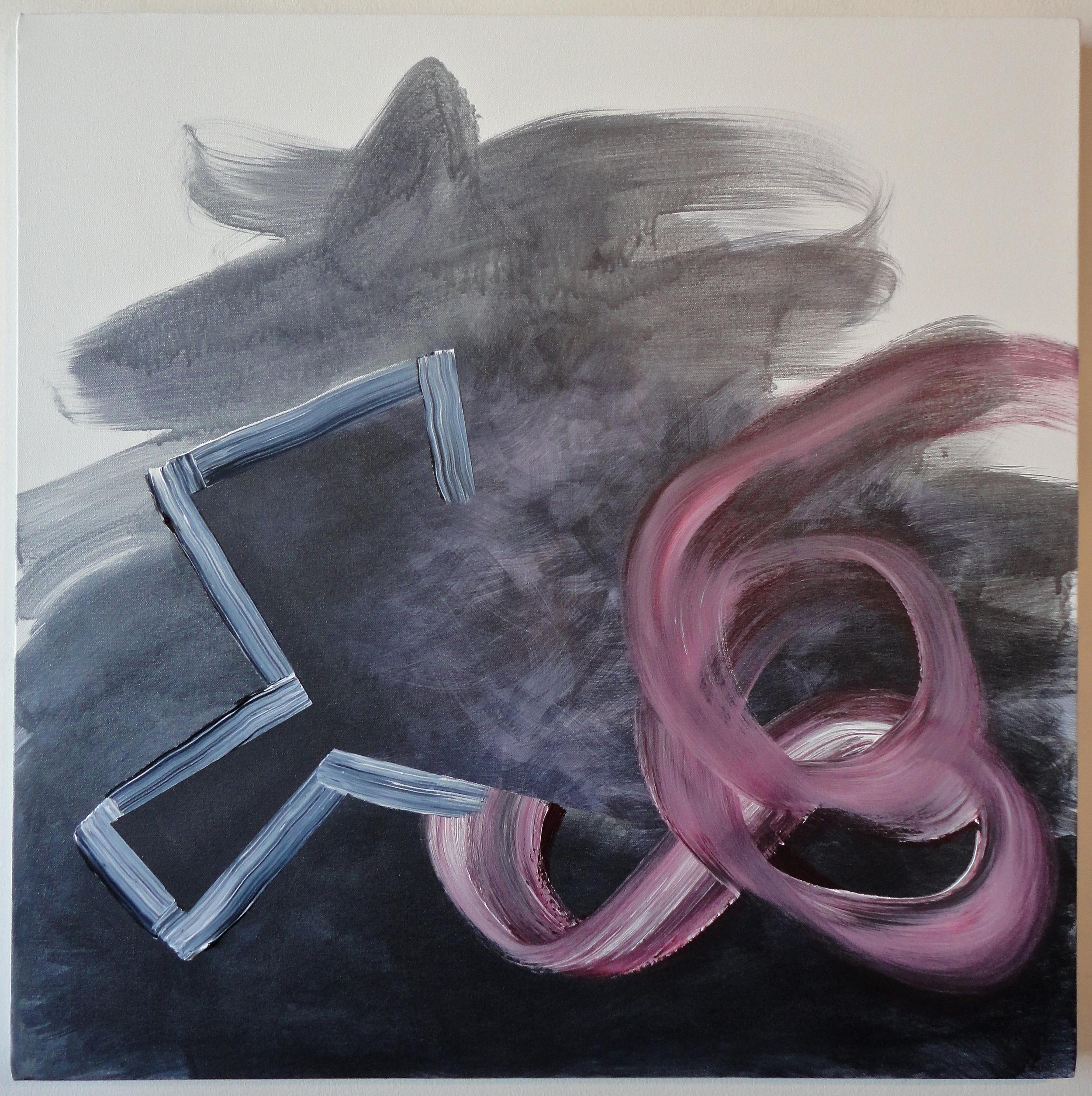 "Untitled. 09/07/15, $350.00, 30""Hx30""Wx1 1/2""D, metallic/acrylic/on canvas."