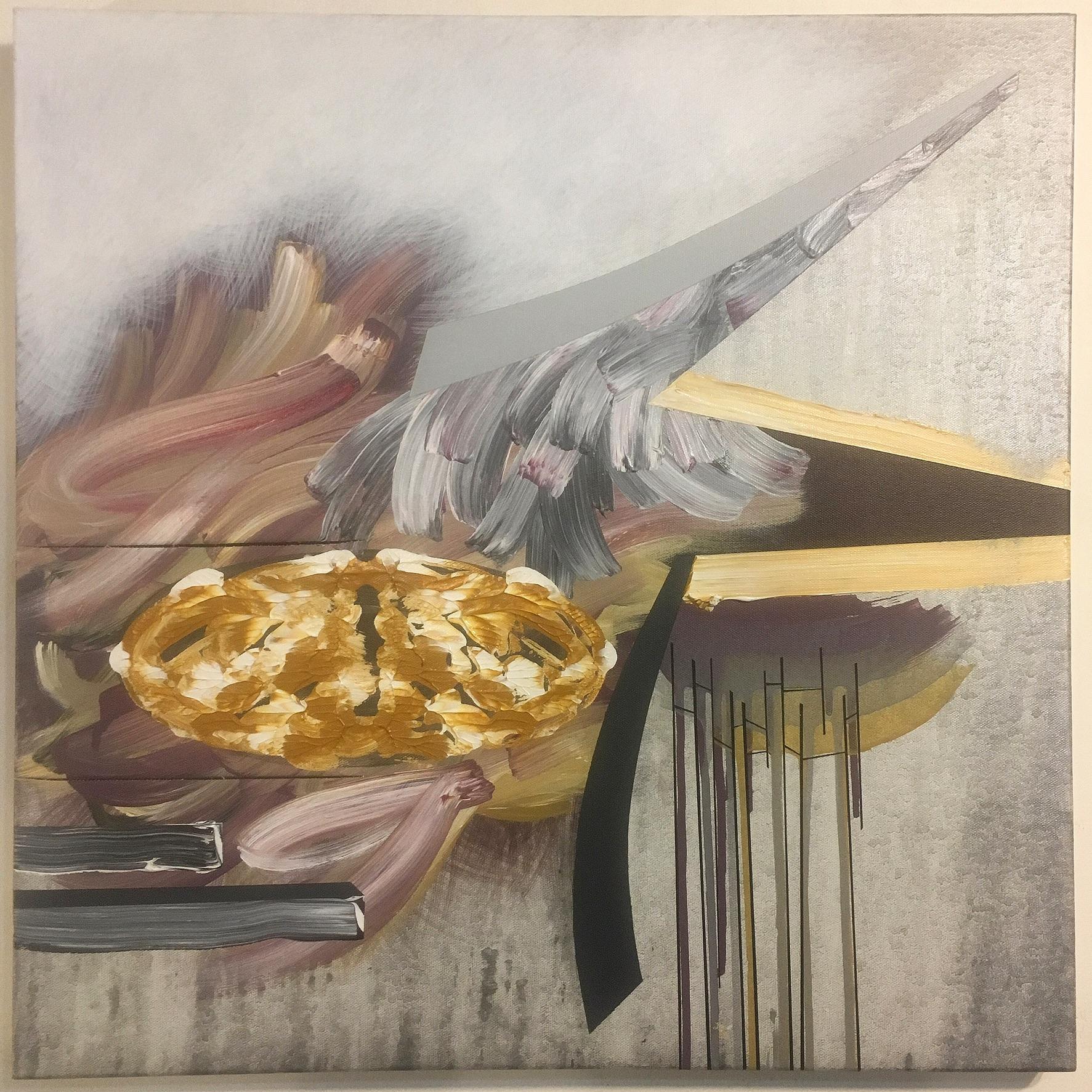 "Untitled. 10/03/16, $250.00, 24""Hx24""Wx1 1/2""D, acrylic/metallic paint on canvas"