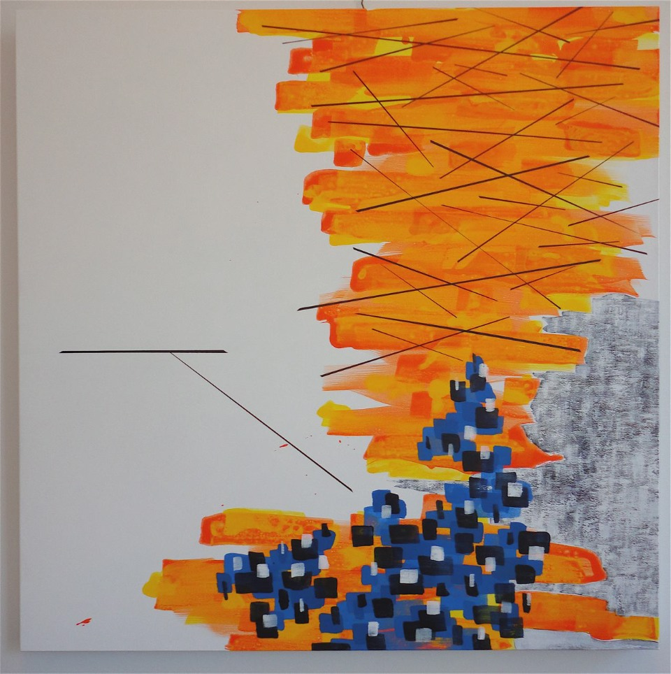 "SOLD. Untiled. (Away/To). 04/05/12, 36""Hx36""Wx1.5""D, acrylic on canvas."