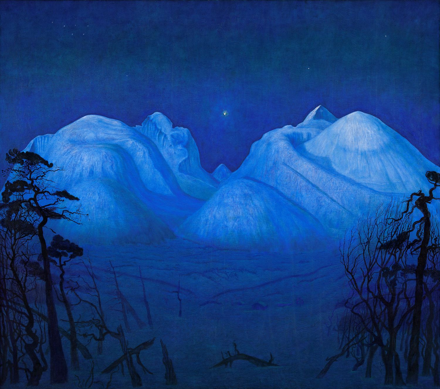 Herald Sohlberg 'Winter Night in the Mountains' 1914