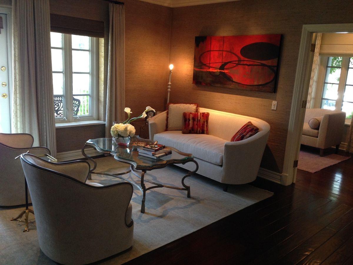 Laura Lee Designs coffee table in a contemporary interior.