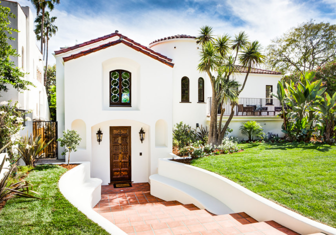 A Spanish Revival style home in Los Angeles, California.