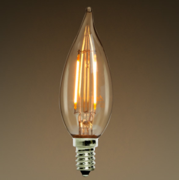 Clear LED Candelabra Bulb