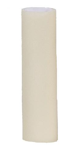 "Smooth Ivory Resin Candle Sleeve 1"" x  3"" 1"" x 4"" 1"" x 5""  1"" x 6"""