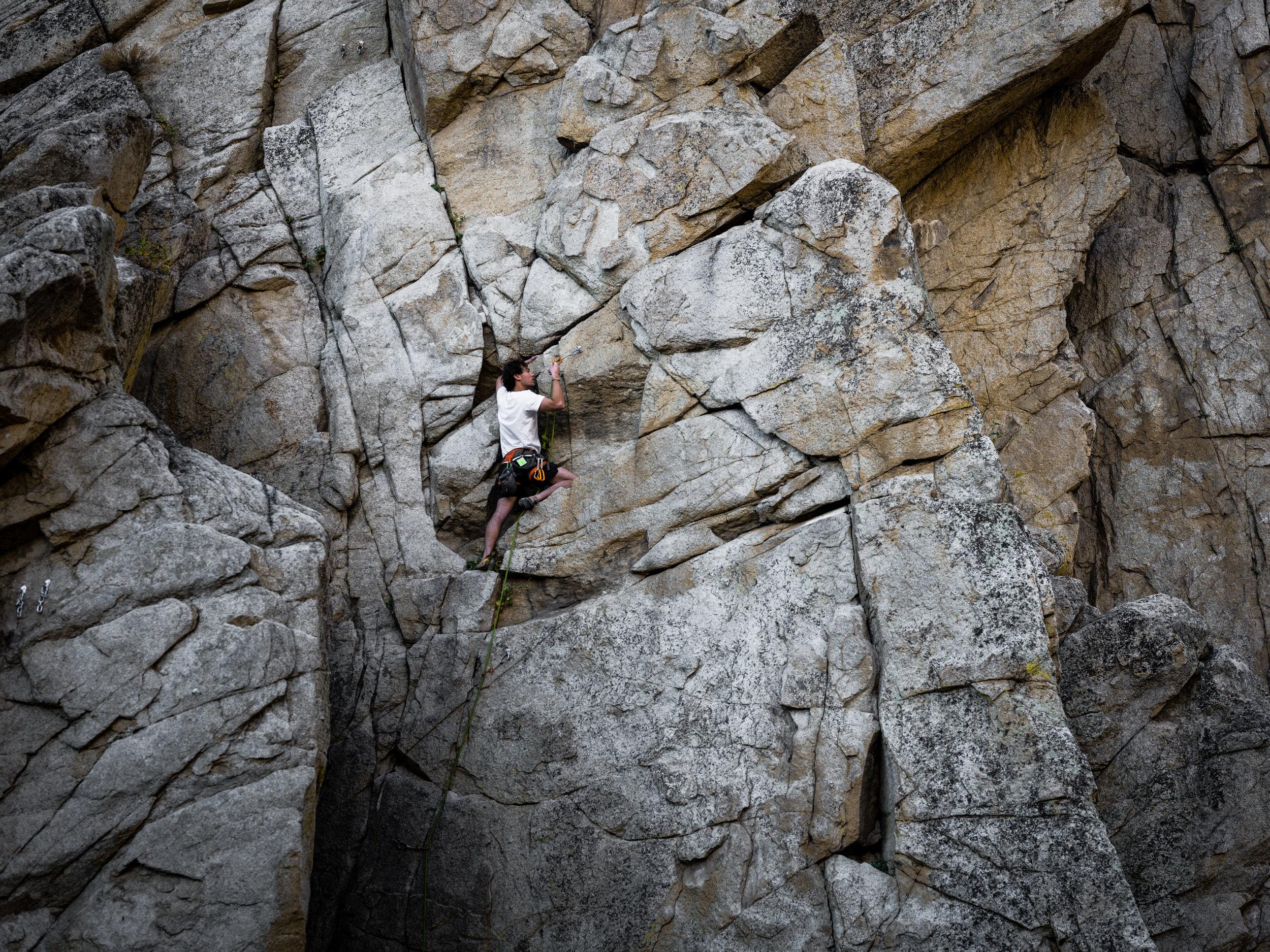 Matt Shultz Climbing Dinosaur Rock_Ryland West.JPG