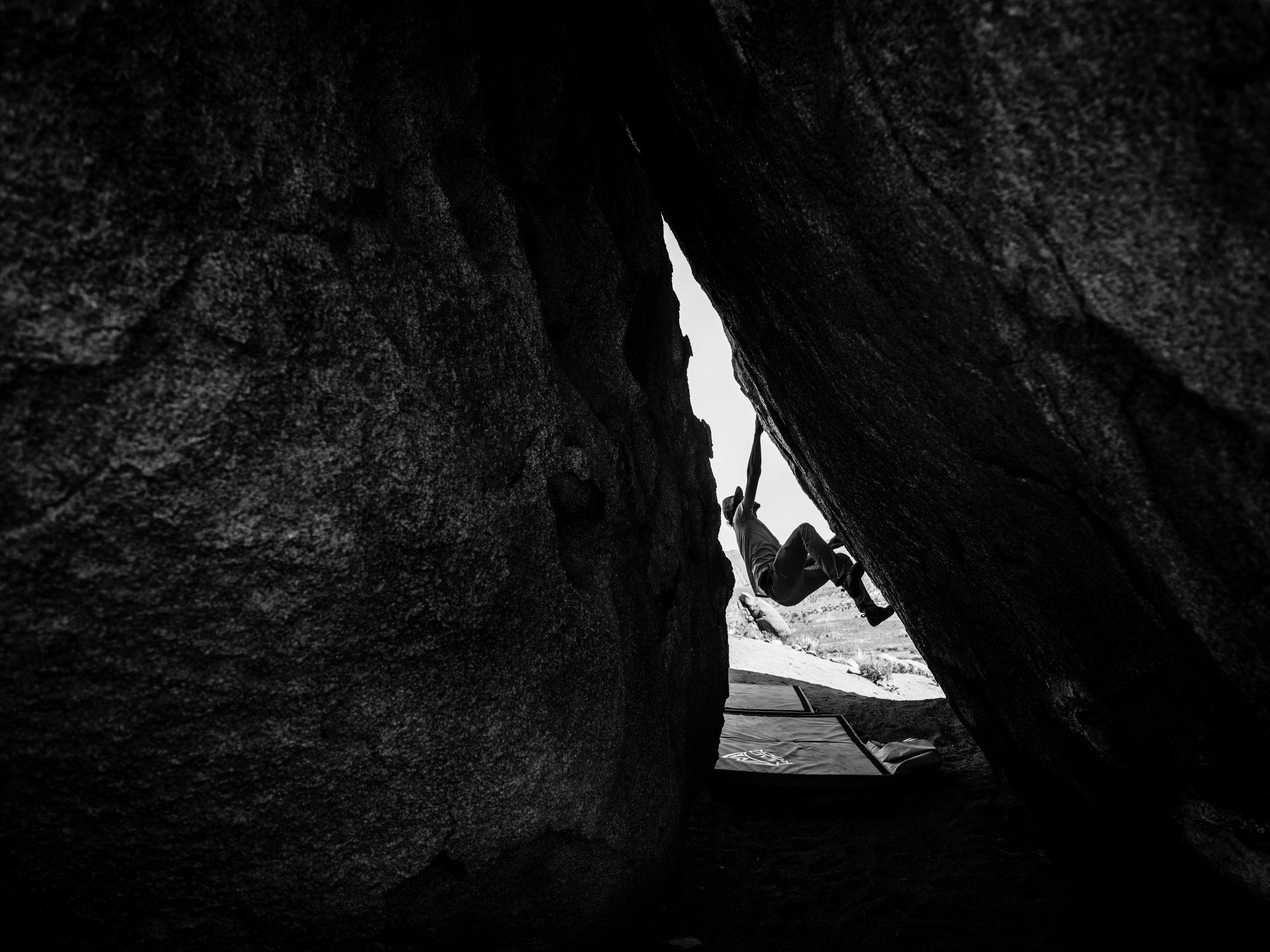 Samir climbing the Buttermilks_Ryland West.jpg