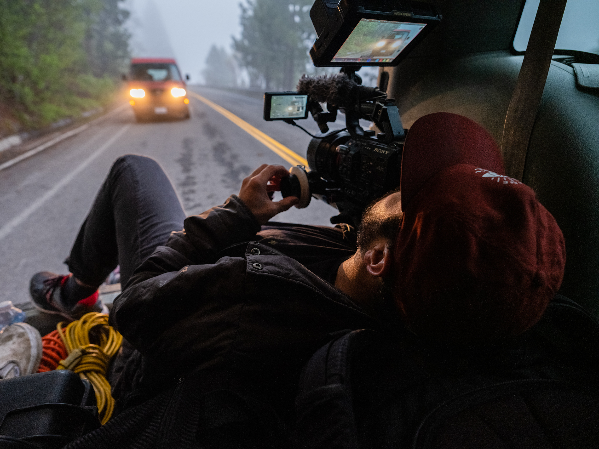 Westfalia_Donner lake_Van driving_BTS_Paul Filming 2.jpg