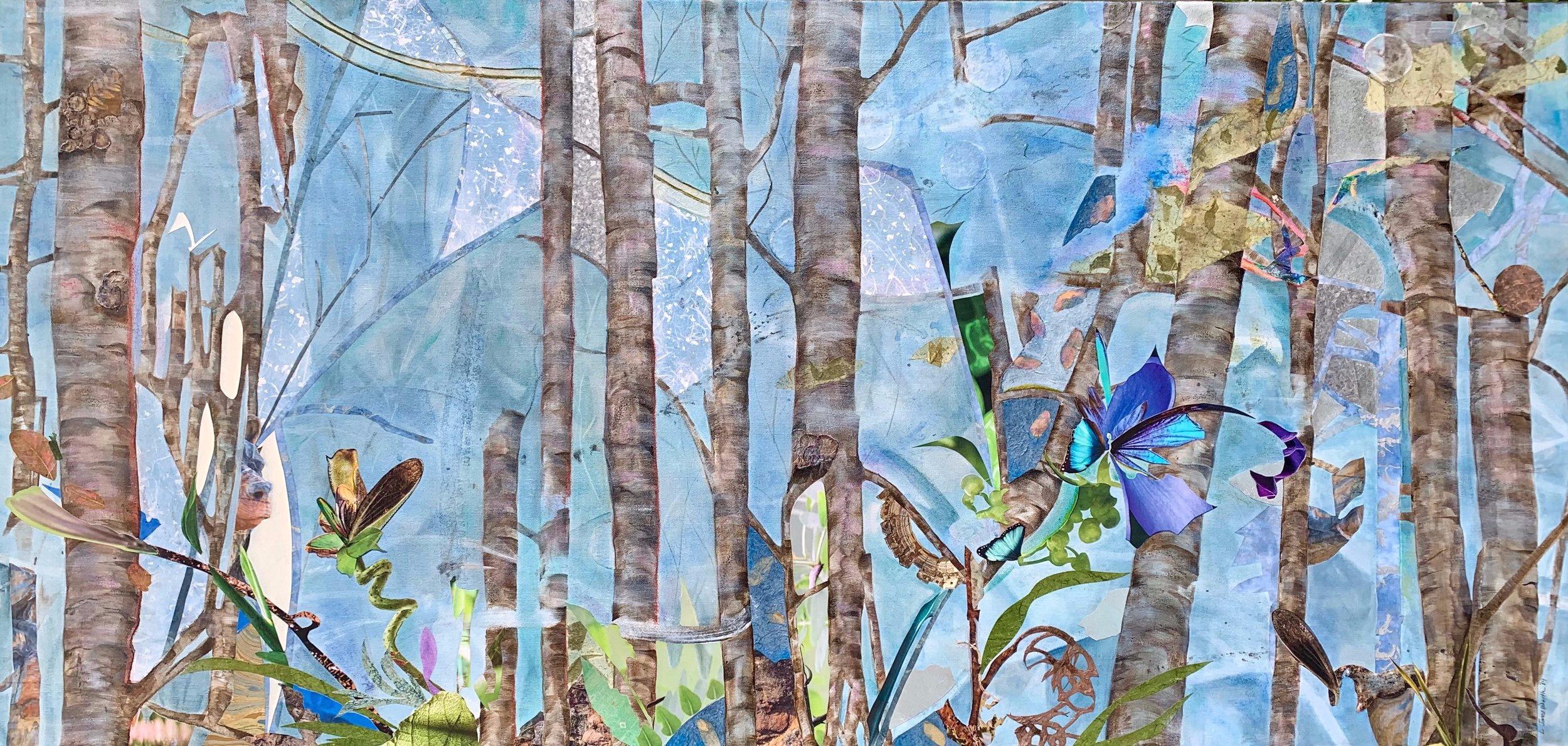 TREE SPIRITS IV, 26x54, mixed on canvas (2019)