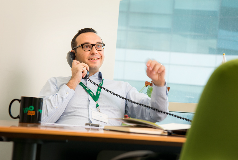 executive on phone Dubai