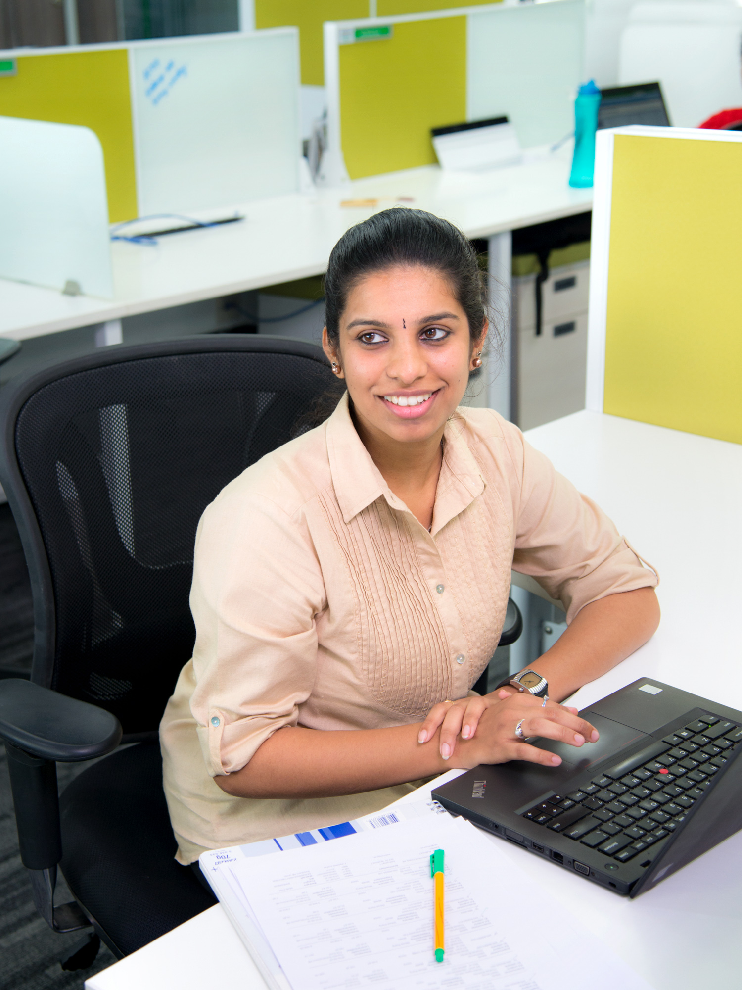 Schneider Electric employee Nithya at work Bangalore, India