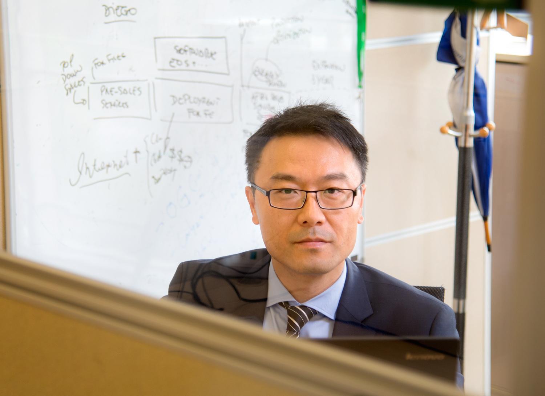Schneider Electric employee Andrew at work - Beijing