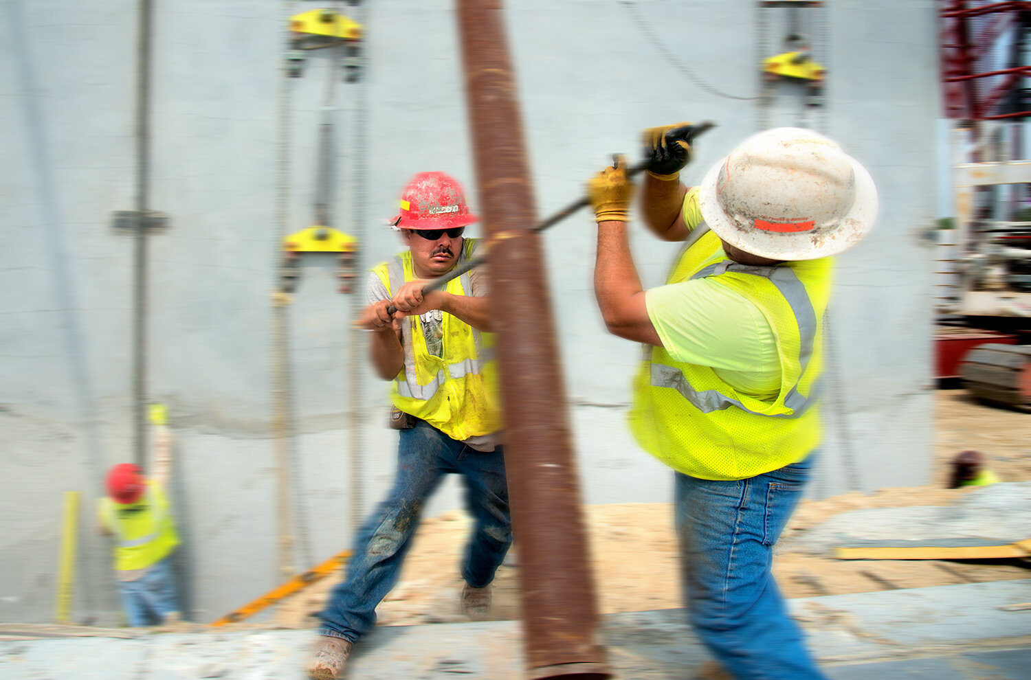 construction workers, Bellingham, MA