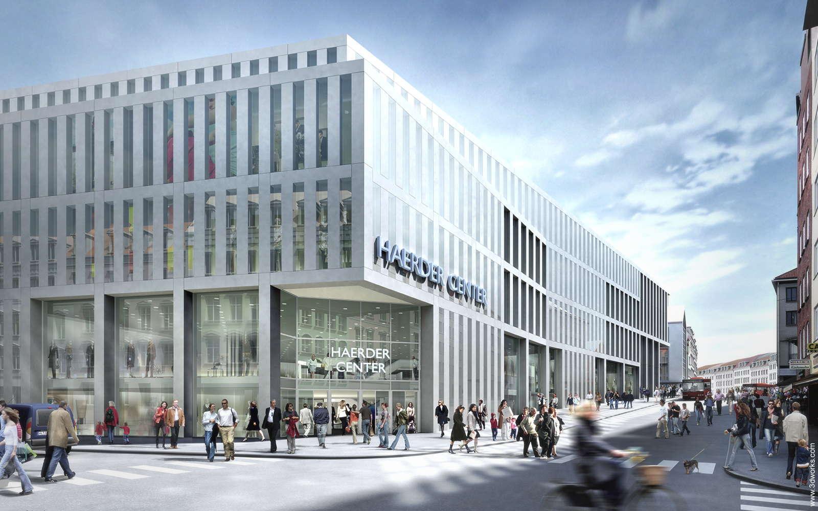3D Visualisierung, Haerder Center, Lübeck - Kunde: Tenkhoff Properties / Auer Weber (Fassade)