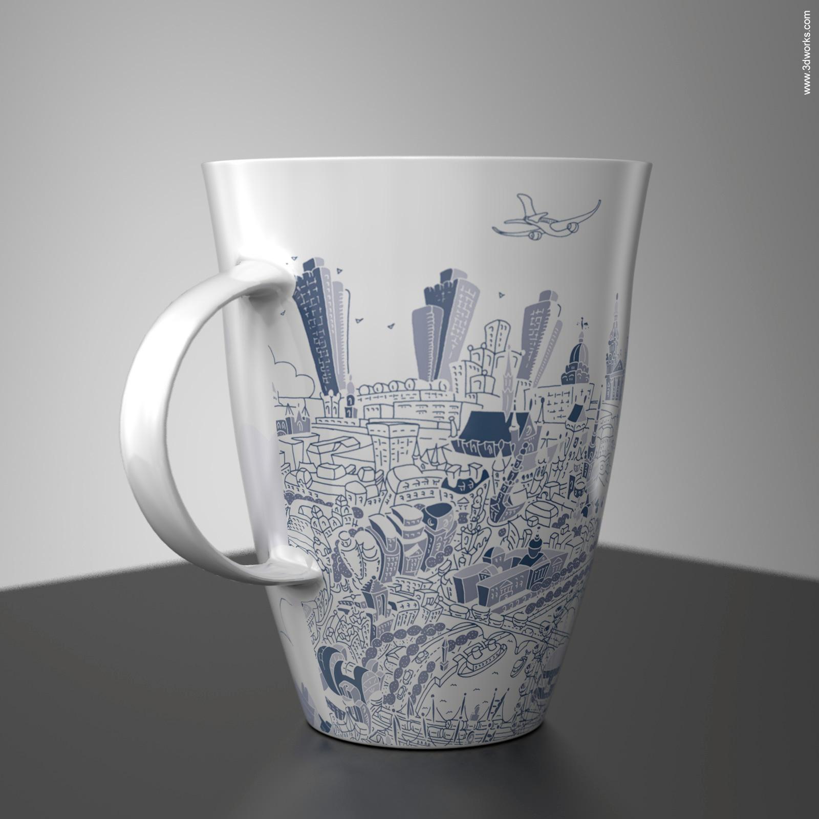 Produktvisualisierung, Bone China Visualisation - Artyglobe Limited / Hartwig Braun