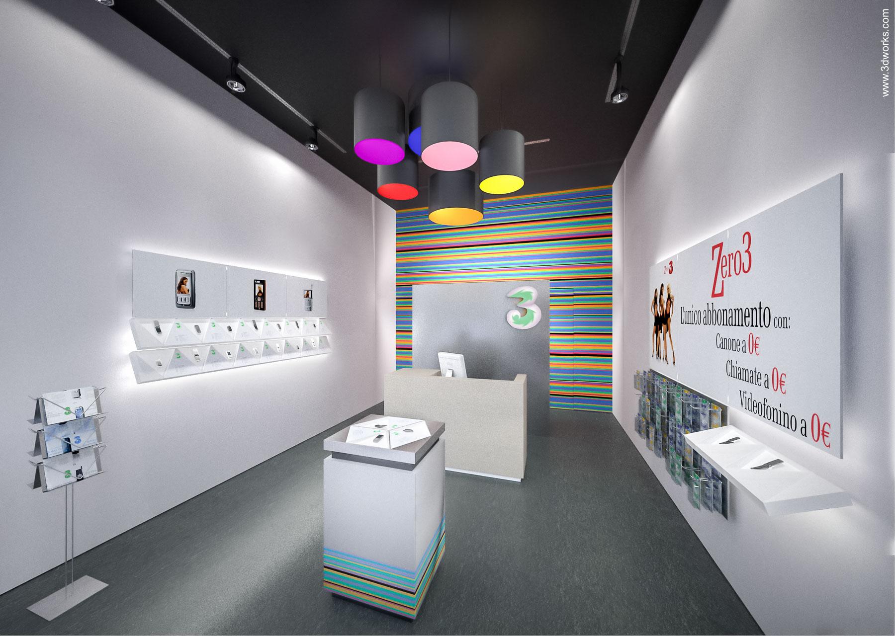 "3D Visualisierung, Shop Design ""3"", Milano - Studio & Partners"