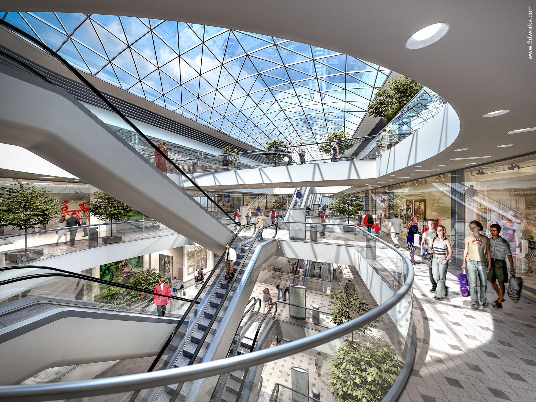 3D Visualisierung, Haerder Center, Lübeck - Kunde: Tenkhoff Properties