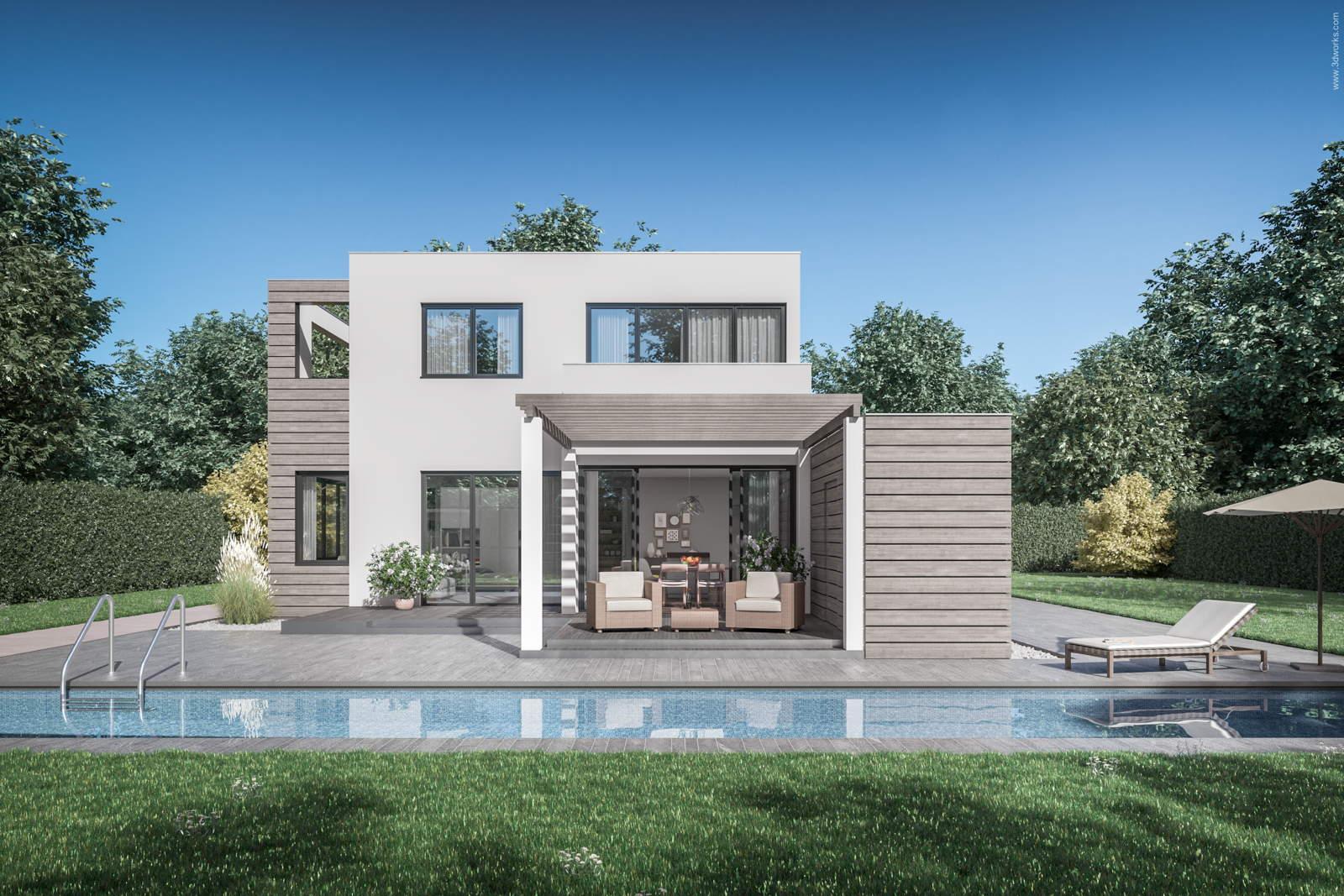 Architekturvisualisierung - Pool House