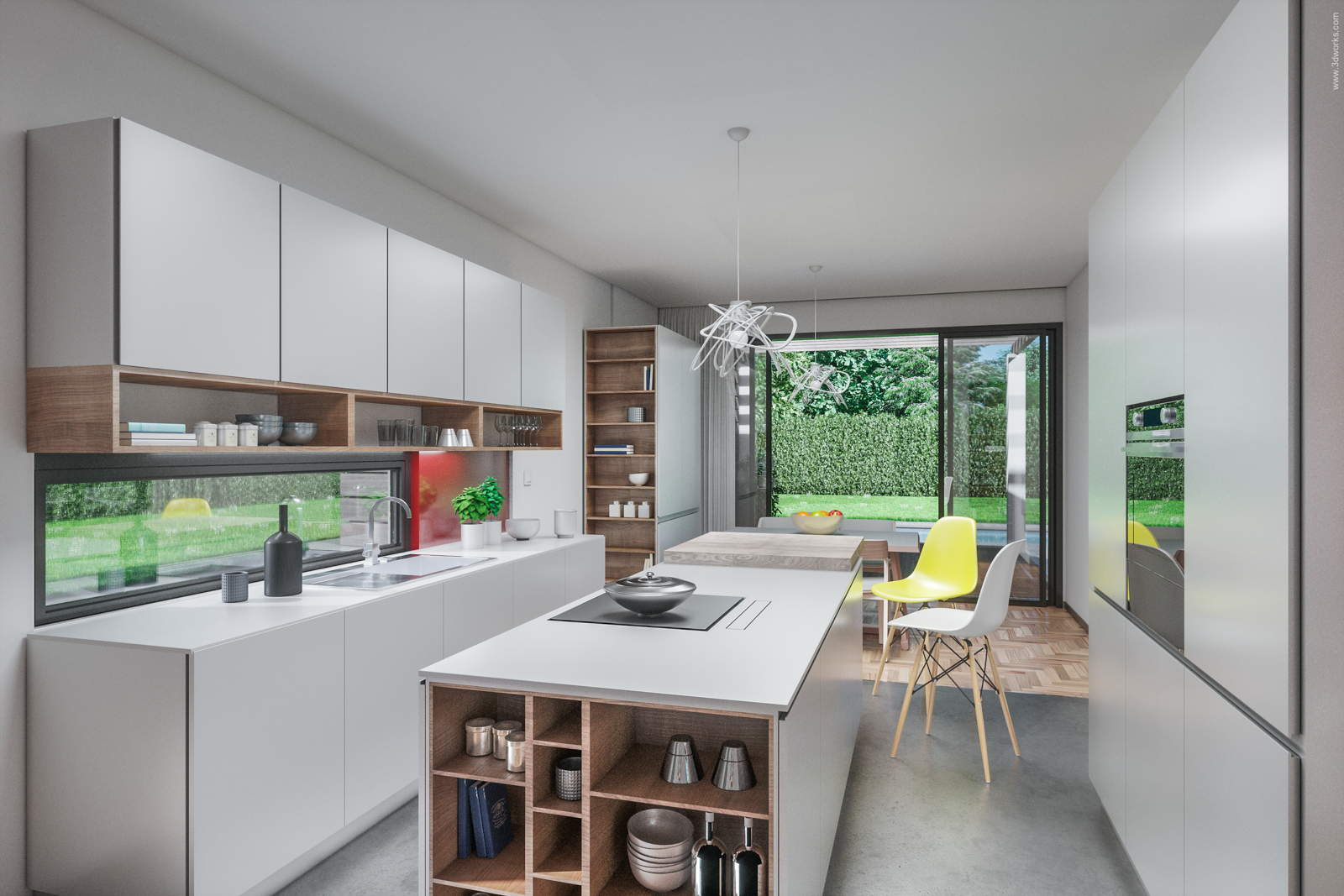 Kücheninterieur - Pool House