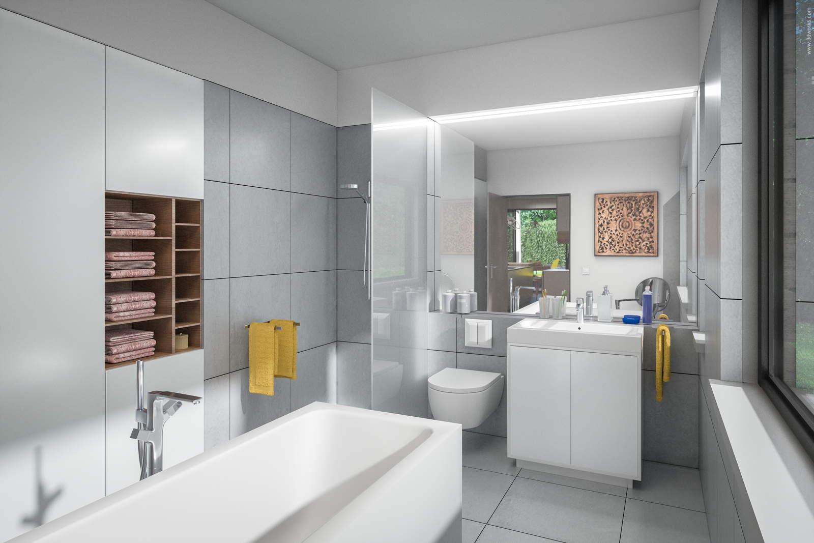Visualisierung eines Bads - Pool House Interior
